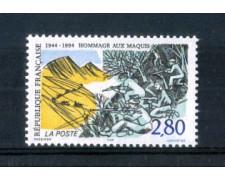 1994 - LOTTO/FRA2865N - FRANCIA - OMAGGIO ALLA RESISTENZA NUOVO
