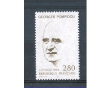 1994 - LOTTO/FRA2864N - FRANCIA  - GEORGES POMPIDOU NUOVO