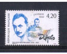 1993 - LOTTO/FRA2801N - FRANCIA - DJANGO REINHARDT 1v. - NUOVO