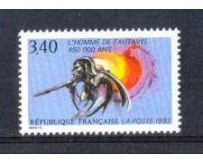 1992 - LOTTO/FRA2754 - FRANCIA - L'UOMO DI TAUTAVEL 1v. NUOVO