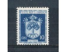 1945 - LOTTO/RSM279L - SAN MARINO - 10c.  STEMMA  LING.