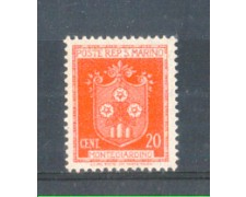 1945 - LOTTO/RSM280L - SAN MARINO - 20c. STEMMI  LING.