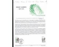 1983 - LOTTO/FRA2257DOC - FRANCIA - RENE CASSIN - DOC. FILATELICO