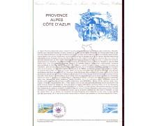 1983 - LOTTO/FRA2252DOC - FRANCIA - PROVENZA ALPI COSTA AZZURRA - DOC. FILATELICO