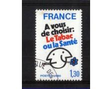 1980 - LOTTO/FRA2080U - FRANCIA - PROPAGANDA  CONTRO IL FUMO - USATO