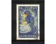 1980 - LOTTO/FRA2079U - FRANCIA - ARTE DEL RICAMO - USATO