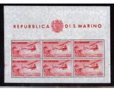 1961 - LOTTO/2646FN - SAN MARINO - POSTA AEREA 1000 LIRE ELICOTTERO - FOGLIETTO