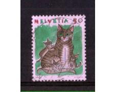 1990 - LOTTO/SVI1342U - SVIZZERA - 50c. ANIMALI  GATTO - USATO