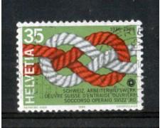 1986 - LOTTO/SVI1238U - SVIZZERA - 35c. SOCC. OPERAIO - USATO