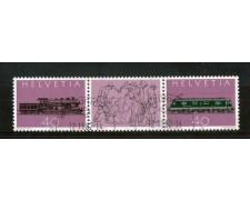 1982 - LOTTO/SVI1149CPU - SVIZZERA - FERROVIA DEL GOTTARDO 2v. -  USATI
