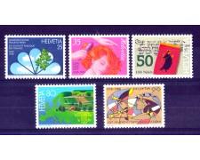 1988 - LOTTO/SVI1297CPN - SVIZZERA - PROPAGANDA 5v. - NUOVI