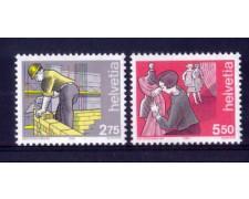 1989 - LOTTO/SVI1331CPN - SVIZZERA - I MESTIERI DELL'UOMO 2v. - NUOVI
