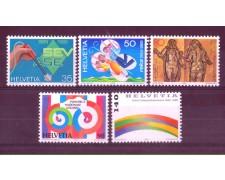 1989 - LOTTO/SVI1329CPN - SVIZZERA - PROPAGANDA 5v. - NUOVI