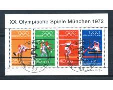 1972 - LOTTO/GFBF7UF - GERMANIA - OLIMPIADI DI MONACO  FOGLIETTO FDC