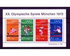 1972 - LOTTO/GFBF7U - GERMANIA - OLIMPIADI DI MONACO FOGLIETTO - USATO