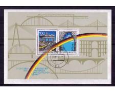 1990 - LOTTO/GFBF21U - GERMANIA - CADUTA DEL MURO FOGLIETTO - USATO