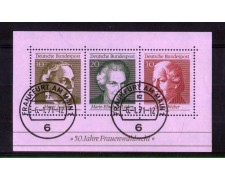 1969 - LOTTO/GFBF4U - GERMANIA - FOTO ALLE DONNE FOGLIETTO - USATO