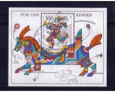 1996 - LOTTO/GFBF34U - GERMANIA - PER NOI BAMBINI  FOGLIETTO - USATO