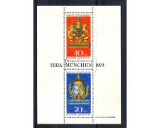 1973 - LOTTO/GFBF8U - GERMANIA -IBRA 73 FOGLIETTO - USATO