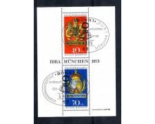 1973 - LOTTO/GFBF8UF - GERMANIA - IBRA 73 FOGLIETTO - ANNULLO FDC