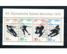 1971 - LOTTO/GFBF5U - GERMANIA - OLIMPIADI DI SAPPORO FOGLIETTO - USATO