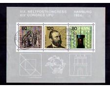 1984 - LOTTO/GFBF18U - GERMANIA -  CONGRESSO UPU FOGLIETTO - USATO