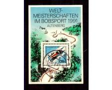 1991 - LOTTO/GFBF22U - GERMANIA - CAMPIONATO DI BOB FOGLIETTO - USATO