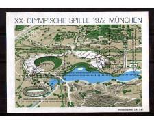 1972 - LOTTO/GFBF6U - GERMANIA - OLIMPIADI DI MONACO FOGLIETTO - USATO