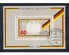 1974 - LOTTO/GFBF9U - GERMANIA - ANNIVERSARIO REPUBBLICA FOGLIETTO - USATO