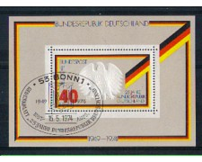 1974 - LOTTO/GFBF9UF - GERMANIA - ANNIVERSARIO REPUBBLICA FOGLIETTO - USATO FDC