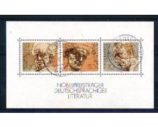 1978 - LOTTO/GFBF15U - GERMANIA - PREMI NOBEL FOGLIETTO - USATO