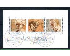 1978 - LOTTO/GFBF15UF - GERMANIA - PREMI NOBEL - FOGLIETTO FDC