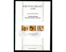 1978 - LOTTO/GFBF15ETB - GERMANIA - PREMI NOBEL FOGLIETTO - ETB