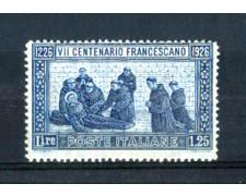 1926 - LOTTO/REG196N - REGNO - 1,25 LIRE SAN FRANCESCO - NUOVO