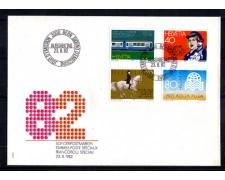 1982 - LOTTO/SVI1164FDC - SVIZZERA - PROPAGANDA 4v. - BUSTA FDC