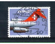 1981 - LOTTO/SVI1125U - SVIZZERA - 1,10Fr. PROPAGANDA  - USATO