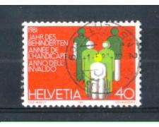 1981 - LOTTO/SVI1122U - SVIZZERA - 40c. DISABILI - USATO