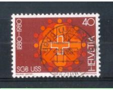 1980 - LOTTO/SVI1115U - SVIZZERA - 40c. UN.SINDACALE - USATO