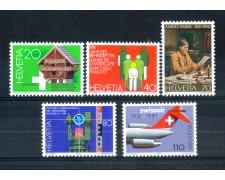 1981 - LOTTO/SVI1125CPN - SVIZZERA - PROPAGANDA 5v. - NUOVI