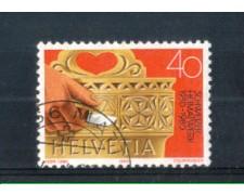 1980 - LOTTO/SVI1101U - SVIZZERA - 40c. ARTIGIANATO - USATO