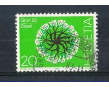 1980 - LOTTO/SVI1100U - SVIZZERA - ESP. VERDE 80 - USATO