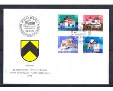 1978 - LOTTO/SVI1063FDC - SVIZZERA - PRO PATRIA 4v. - BUSTA FDC