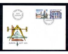 1978 - LOTTO/SVI1059FDC - SVIZZERA - EUROPA 2v. - BUSTA FDC
