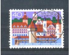 1978 - LOTTO/SVI1047U - SVIZZERA - 40c. LUCERNA - USATO