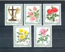1982 - LOTTO/23606 - SVIZZERA - PRO JUVENTUTE ROSE 5v. - NUOVI