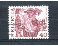 1977 - LOTTO/SVI1037AU - SVIZZERA - 40c. TRADIZIONI POPOLARI CON FILI DI SETA - USATO