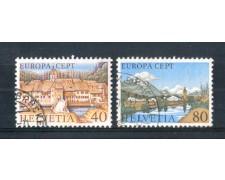1977 - LOTTO/SVI1025CPU - SVIZZERA - EUROPA 2v. - USATI