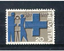 1977 - LOTTO/SVI1021U - SVIZZERA - 20c. CROCE AZZURRA - USATO