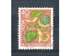 1976 - LOTTO/SVI1015U - SVIZZERA - 40+20c. PRO JUVENTUTE TIGLIO - USATO