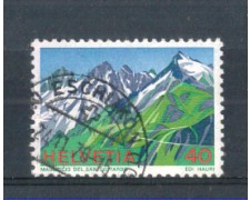 1976 - LOTTO/SVI1011U - SVIZZERA - 40c. S.GOTTARDO - USATO